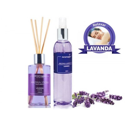 Kit Aroma Stick e Spray Lavanda